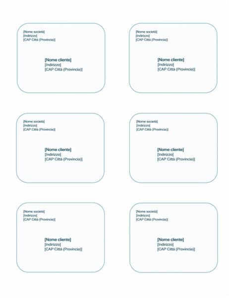 Etichette di spedizione (tema Sfondo azzurro, compatibili con Avery 5164)