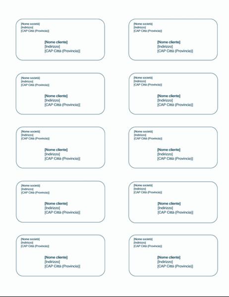Etichette di spedizione (tema Sfondo azzurro, compatibili con Avery 5163)