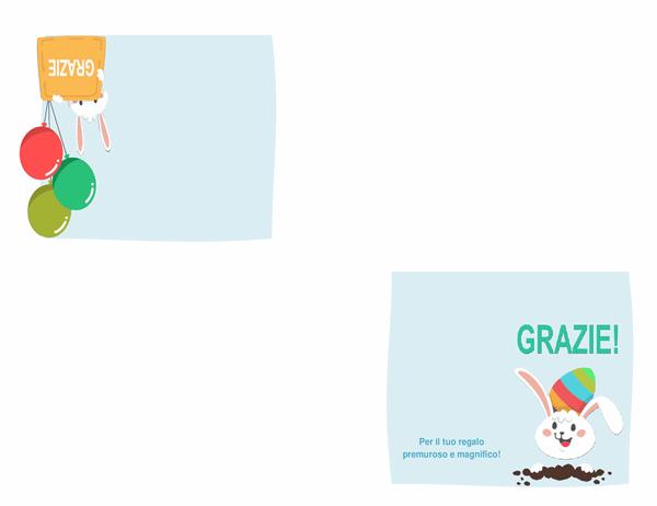 Biglietto di ringraziamento di Pasqua (quattro facciate)