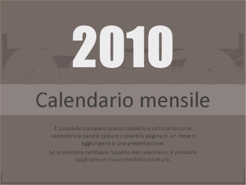 Calendario 2010 (lunedì-domenica)