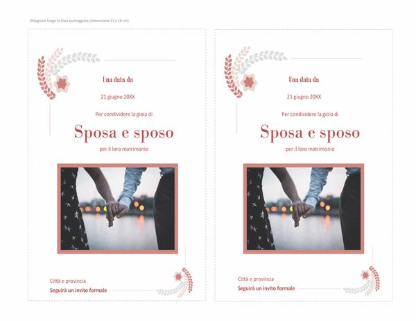 Biglietto di invito a matrimonio (con spazio per foto)