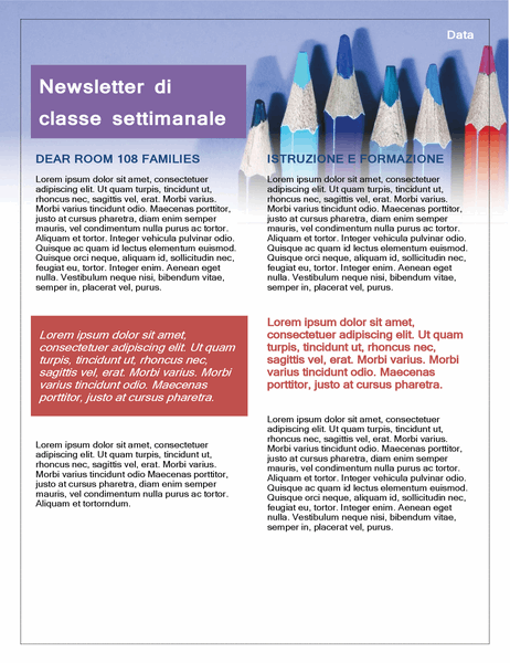 Newsletter di classe
