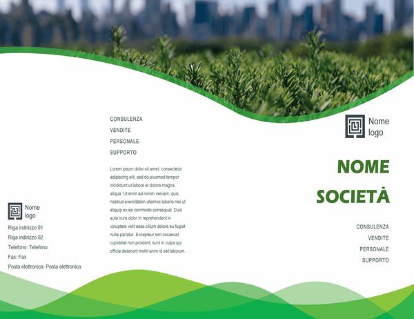 Brochure professionale (schema Onde verdi, fase progettazione, pieghevole)