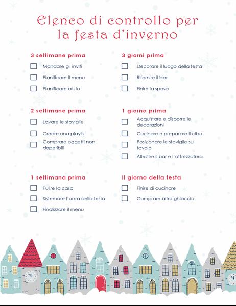 Elenco di controllo per party di Natale