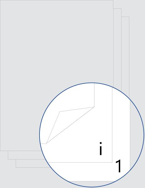 Numerazione pagine introduttive