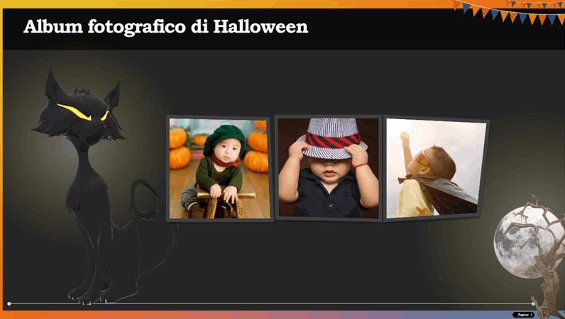 Album fotografico di Halloween