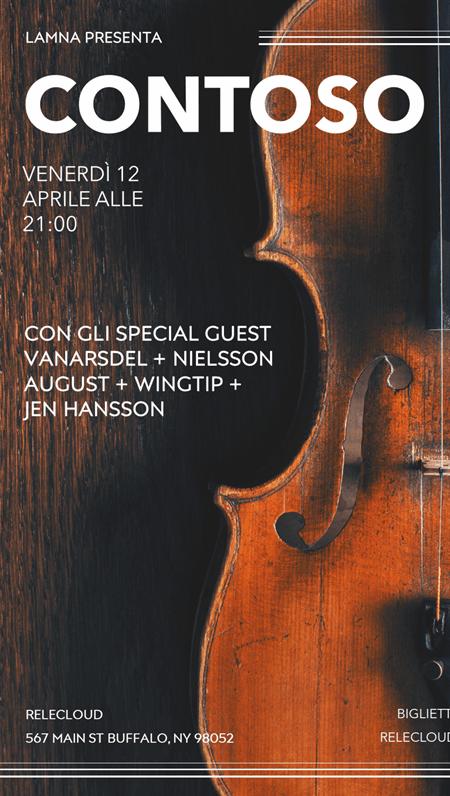 Poster per concerti