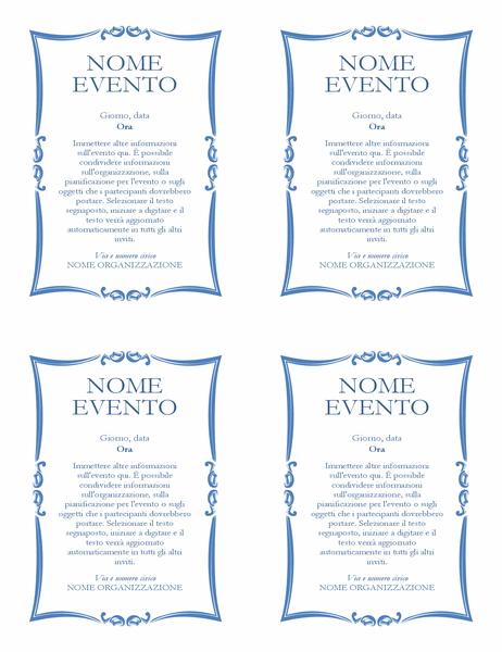 Volantino evento (4 per pagina)