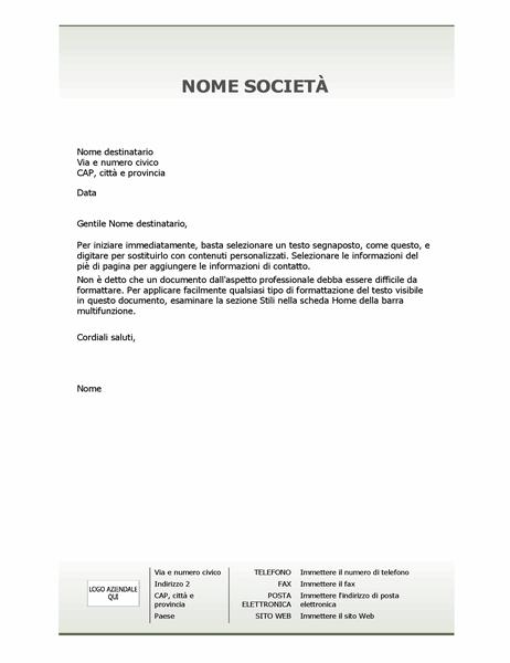 Carta intestata aziendale (schema Semplice)