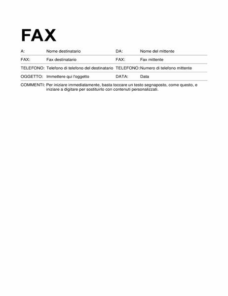 Copertina fax (formato standard)