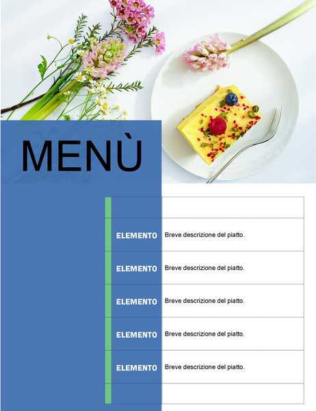 Menù per festa (schema Floreale)