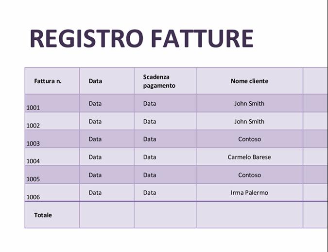 Registro fatture