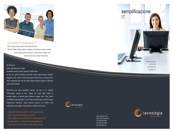 Brochure per le aziende tecnologiche (pieghevole)