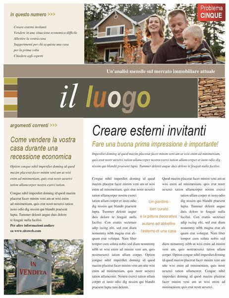 Newsletter agenzia immobiliare (4 pagine)
