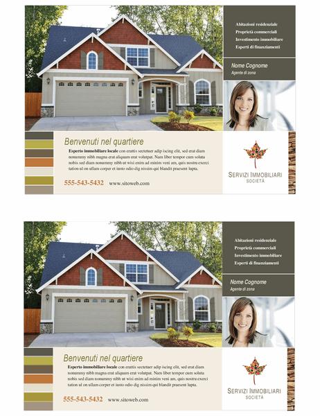 Volantino per agenzia immobiliare (pieghevole, 2 per pagina)