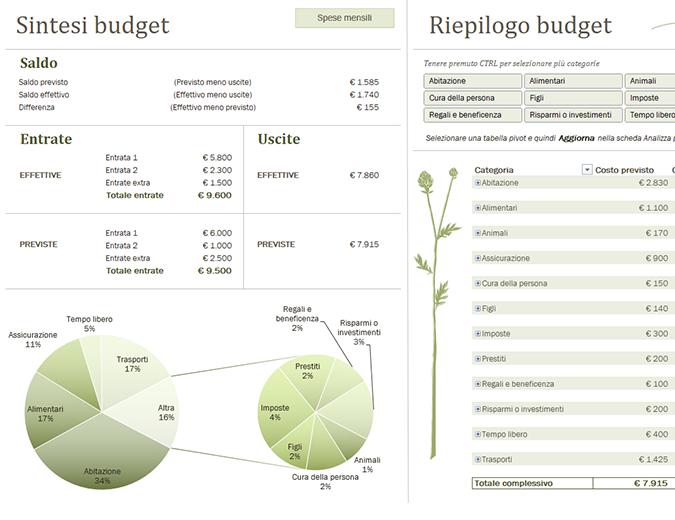Budget familiare (mensile)