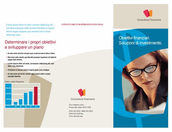 Brochure aziendale finanziaria (pieghevole)