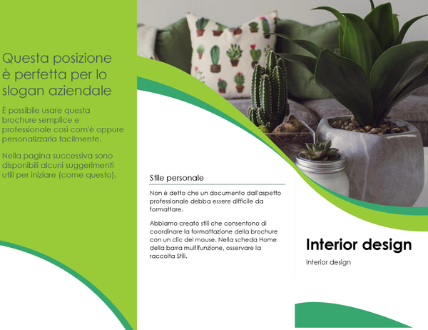 Brochure per interior design
