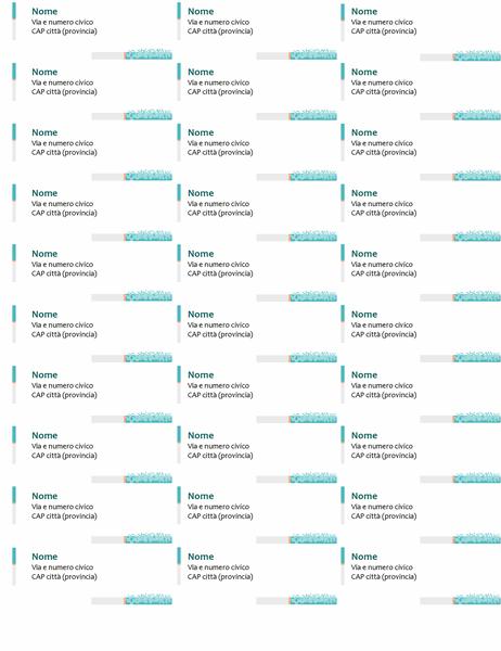 Etichette per indirizzi tecnologia minimalista (30 per pagina)