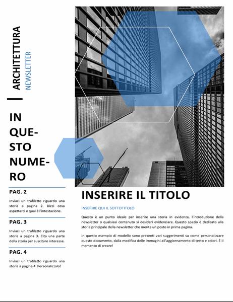 Newsletter per studi di architettura