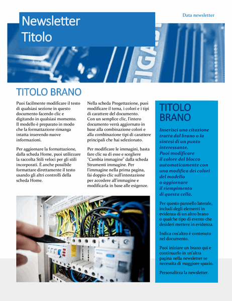 Newsletter per hardware