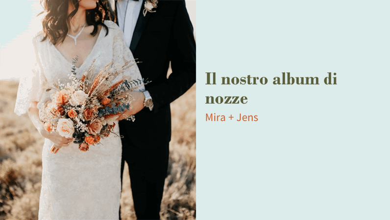 Album di nozze floreale