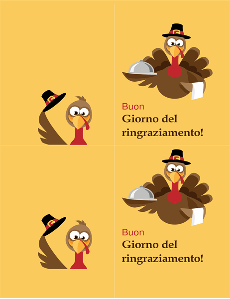 Allegro biglietto del Giorno del Ringraziamento