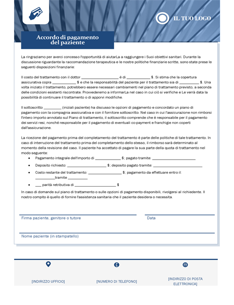 Contratto di pagamento tra paziente e assistenza sanitaria