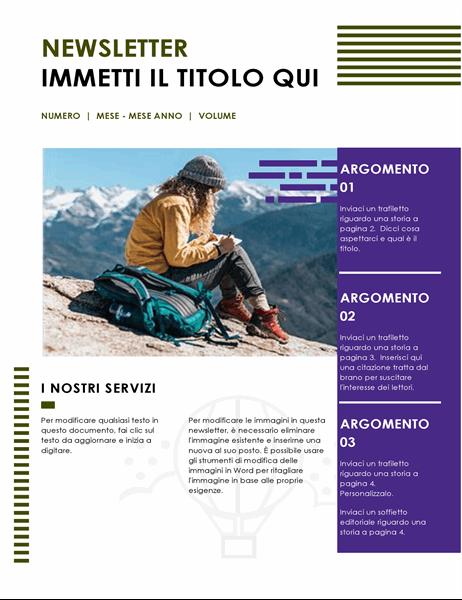 Newsletter di viaggio