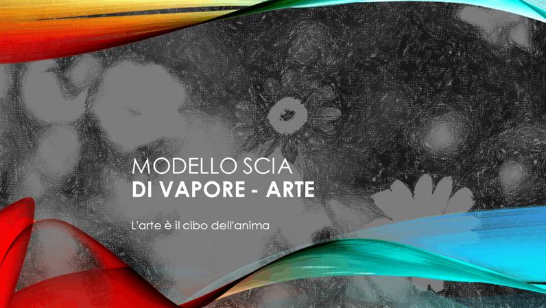 Modello Scia di vapore - Arte