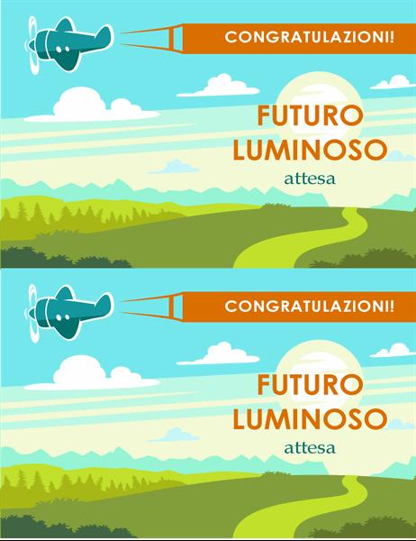 Biglietto di laurea con augurio per un futuro brillante