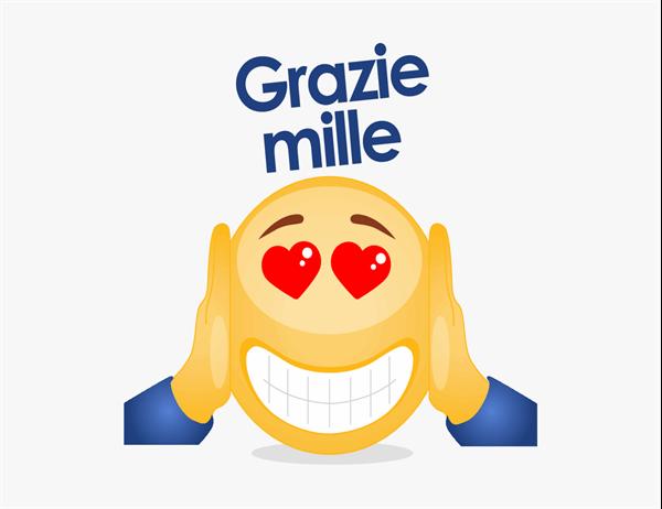 Biglietto di ringraziamento con emoji
