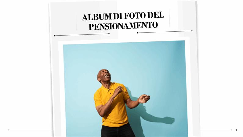 Album di foto del pensionamento