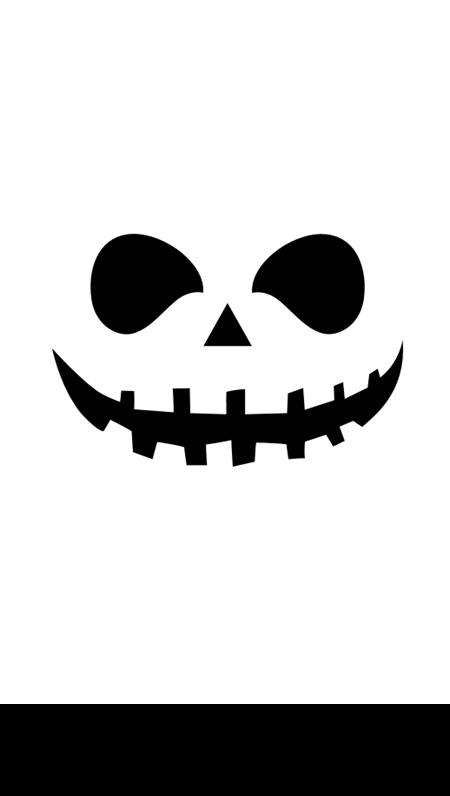 Stencil per intaglio zucca