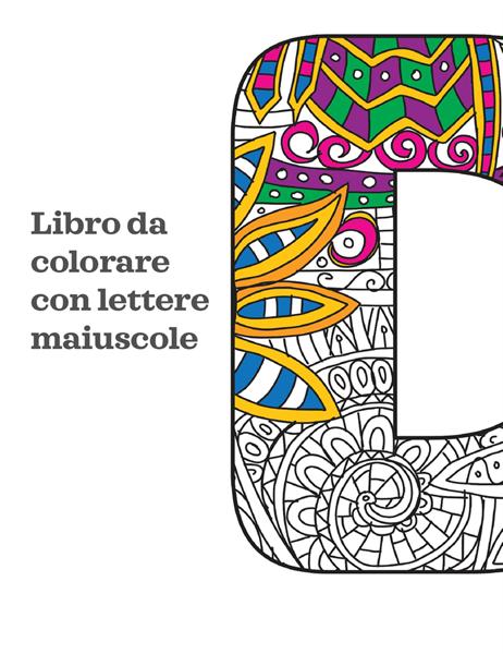 Libro da colorare con lettere maiuscole