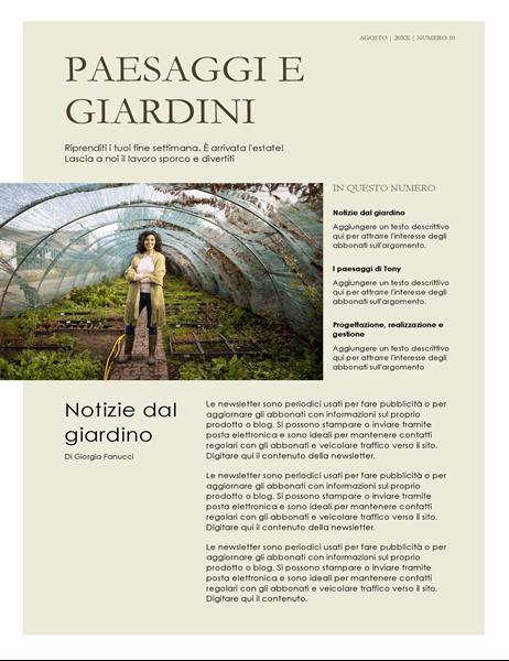 Newsletter sul giardinaggio