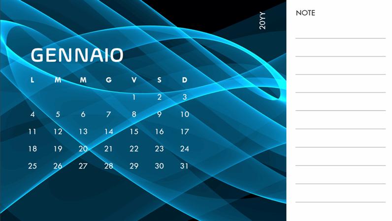 Calendario fotografico astratto