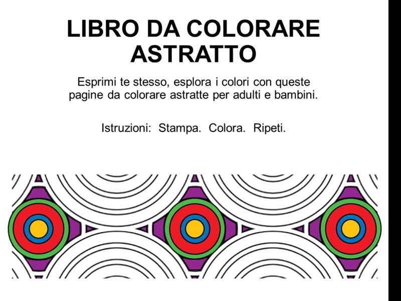 Libro da colorare con disegni astratti