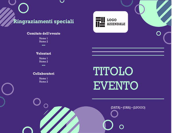Programma dell'evento