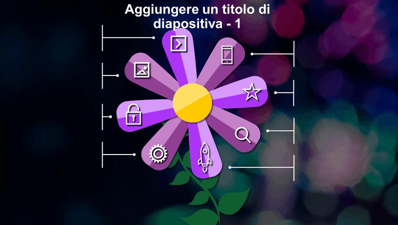 Diapositiva con fiore animata