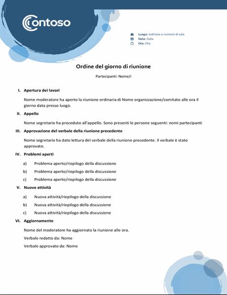 Agenda con sfere blu