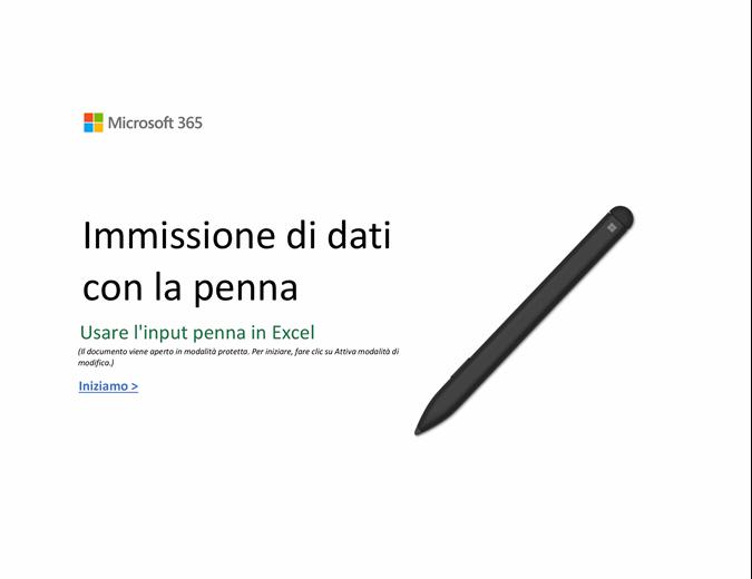 Ti diamo il benvenuto in Excel