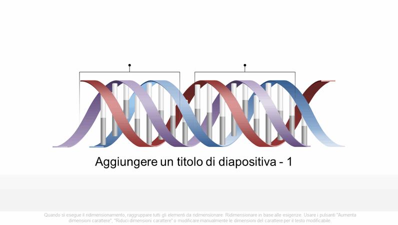 Elemento grafico del DNA orizzontale