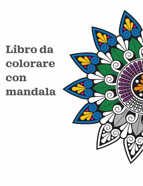 Libro da colorare con mandala