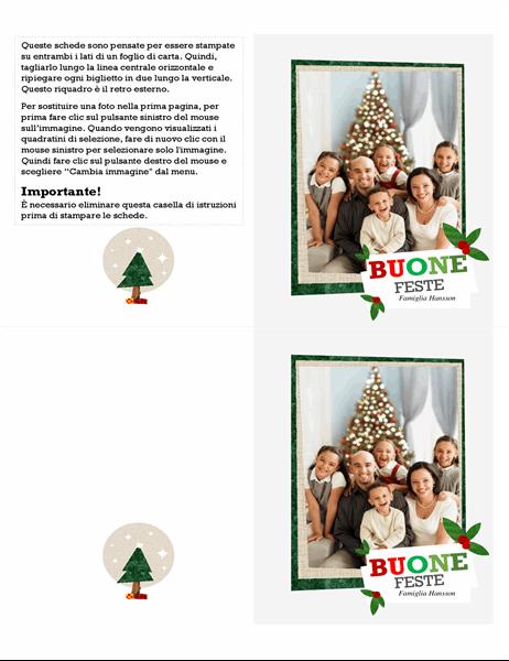 Biglietto vacanze con collage fotografico