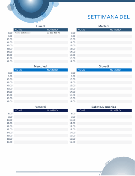 Calendario appuntamento sfere blu