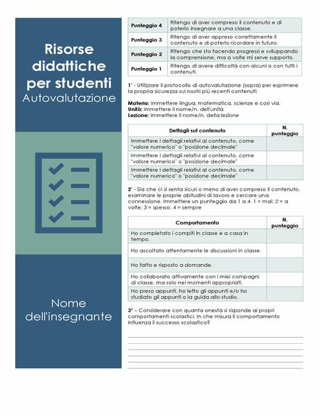 Autovalutazione accademica dello studente