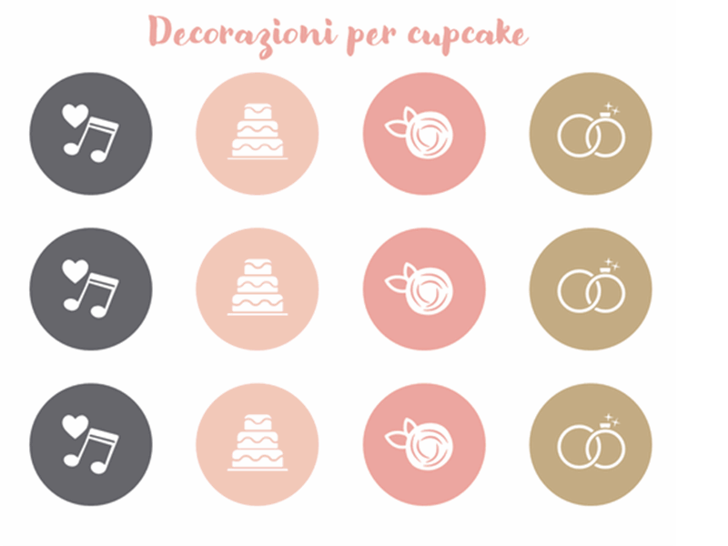 Decorazioni cupcake per matrimonio