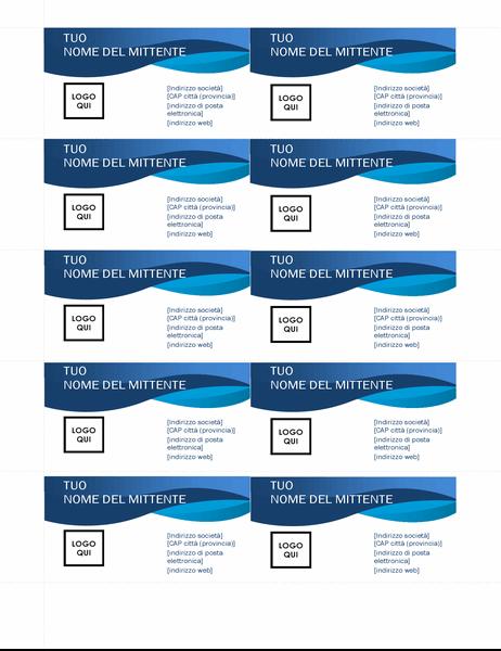 Biglietto da visita curva blu
