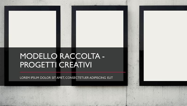 Modello Raccolta - Progetti creativi